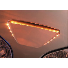 Show Chrome Accessories 52-756 - Amber LED Windshield Garnish Accent Lights